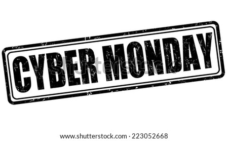 Cyber Monday grunge rubber stamp on white background, vector illustration - stock vector