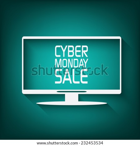 Cyber Monday promotional banner or poster for discounts advertisement. Eps10 vector illustration  - stock vector