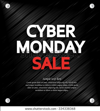 Cyber Monday Sale background with space for your text. Metal background. Vector illustration. - stock vector