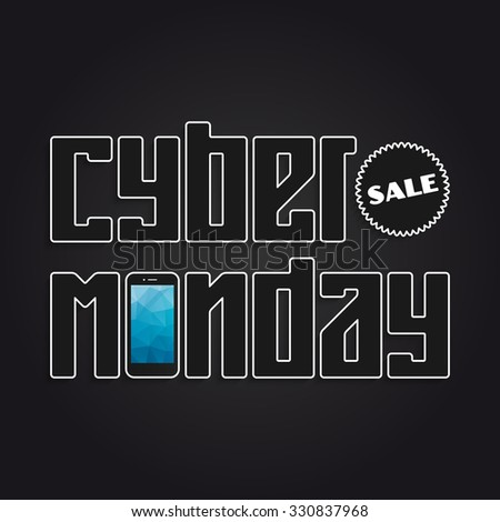 Cyber Monday Sale banner for your design - stock vector