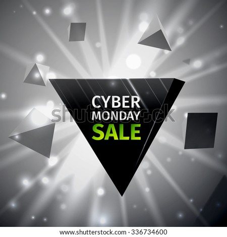 Cyber Monday Sale poster. For your design. Vector illustration, EPS 10 - stock vector