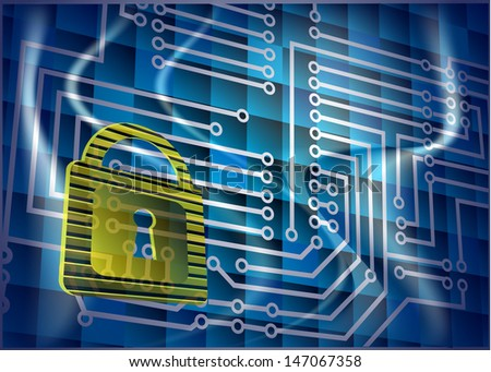 Cyber security - stock vector