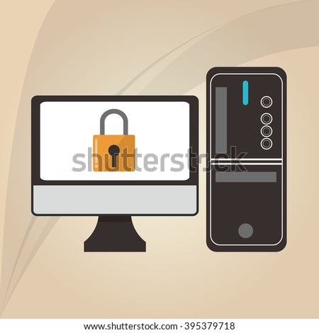 Cyber Security antivirus design  - stock vector