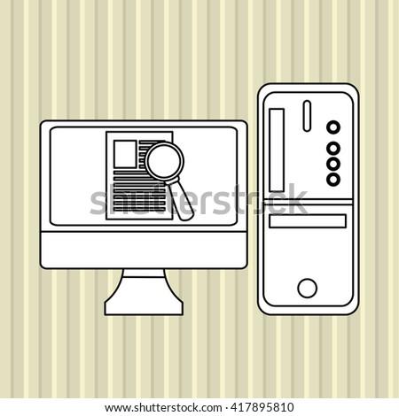 Cyber Security antivirus design , vector illustration - stock vector