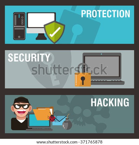 Cyber Security design  - stock vector
