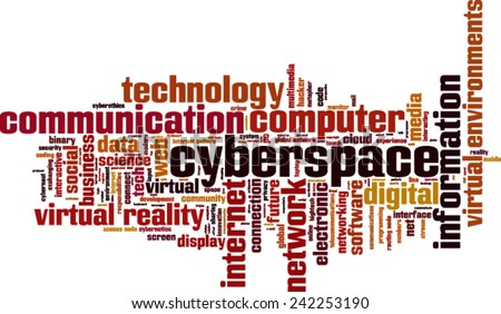 Cyberspace word cloud concept. Vector illustration - stock vector