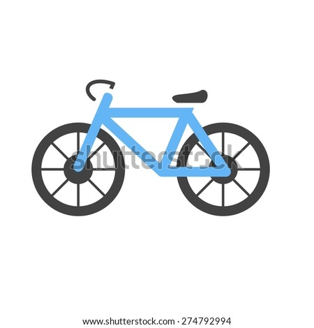 Cycle, bicycle, cycling, sports icon vector image. Can also be used for fitness, recreation. Suitable for web apps, mobile apps and print media. - stock vector