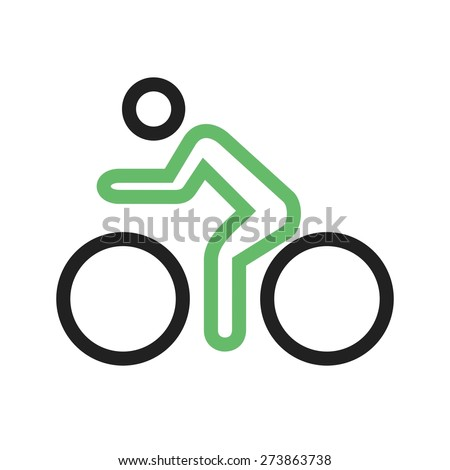 Cycle, bicycle, cyclist, cycling icon vector image. Can also be used for sports, fitness, recreation. Suitable for web apps, mobile apps and print media. - stock vector