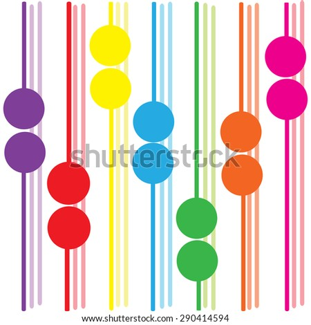 cycle colorful background abstract vector illustrator EPS10 - stock vector
