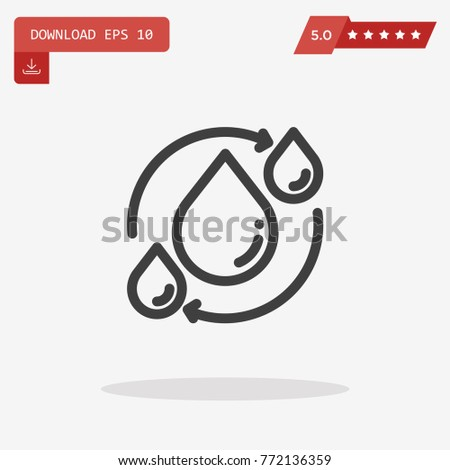 Cycle Icon Trendy Flat Style Isolated Stock Vector 772136359