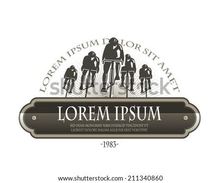 Cycle race. Vector format - stock vector