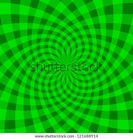 Cyclic optical illusion - stock vector
