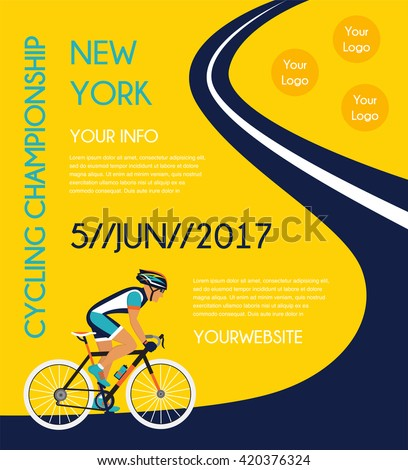 cycling competition / race poster.  - stock vector