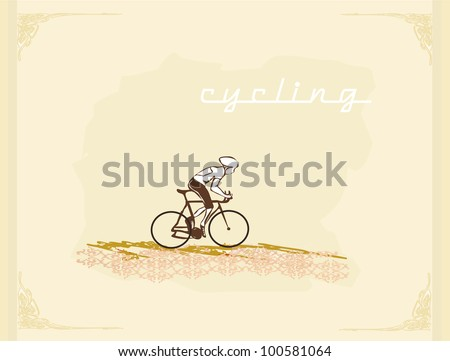 Cycling Grunge Poster Template vector - stock vector