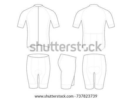cycling jersey template design stock vector 737823739 shutterstock. Black Bedroom Furniture Sets. Home Design Ideas