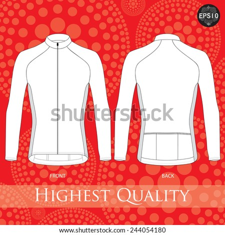 Cycling jersey template. Vector. - stock vector
