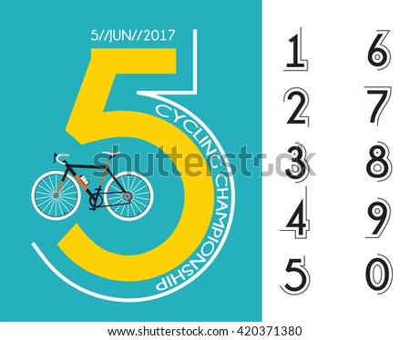 cycling race poster design  - stock vector