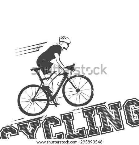Cycling race Vector illustration in style - stock vector