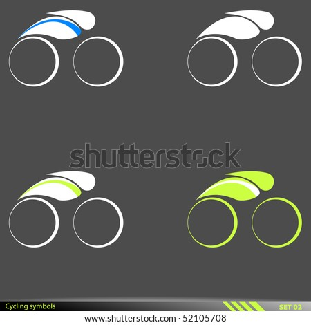 Cycling symbols.Vector illustration. - stock vector