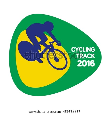 Cycling track icon, Rio icon, sport icon, vector illustration