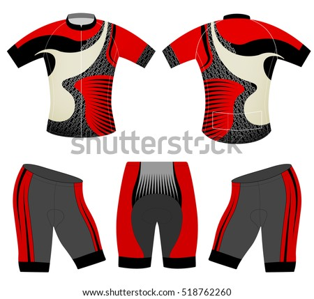 Cycling vest sports fashion design vector on a white background