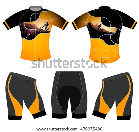 Cycling vest sports t-shirt vector design on a white background