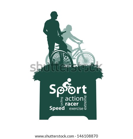 Cyclist - stock vector