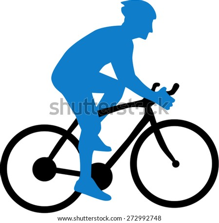Cyclist Silhouette - stock vector
