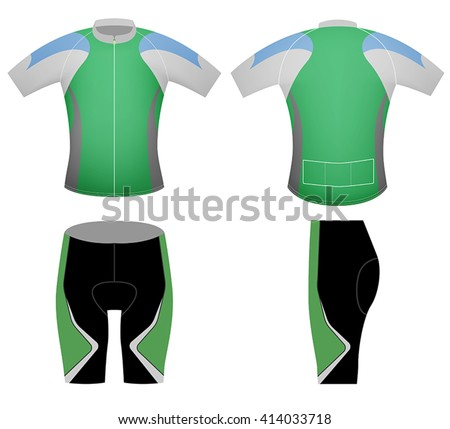 Cyclist uniform vector design graphic t-shirt on a white background