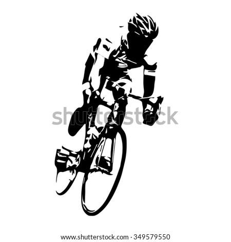 Cyclist vector. Road cycling - stock vector
