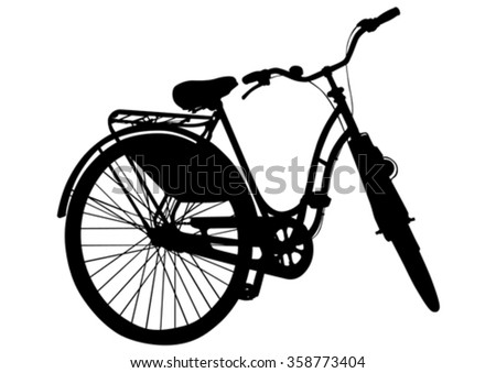 Cyclists bike on white background - stock vector