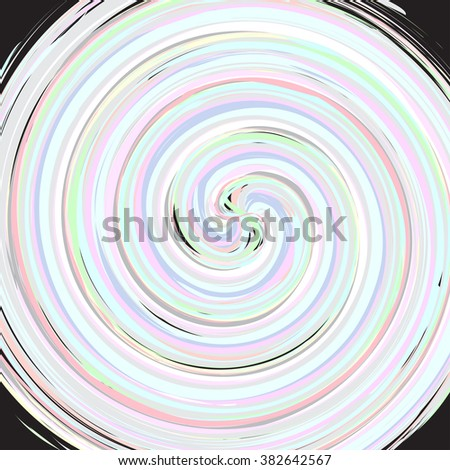 Cyclone Spinning of Pastel Color Vector Illustration