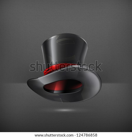 Cylinder hat, vector - stock vector