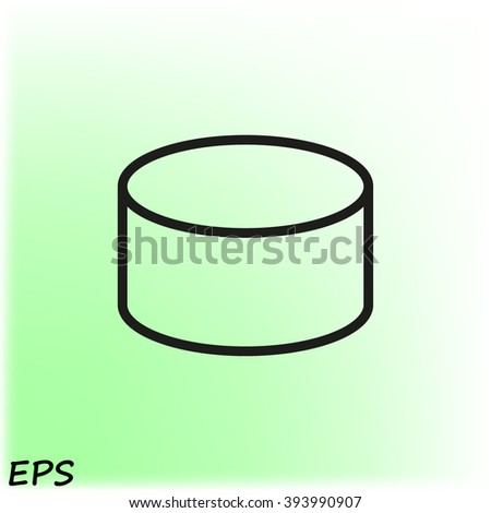 Cylinder  icon, vector illustration