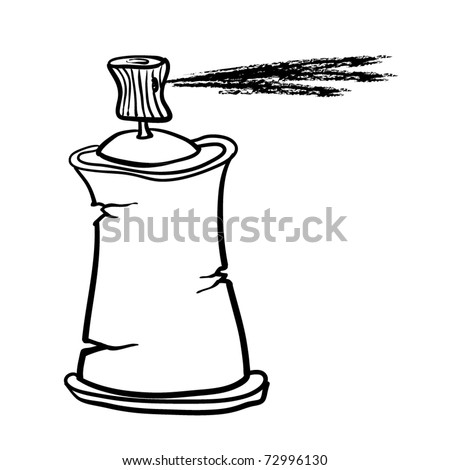 Cylinder with a paint. A children's sketch - stock vector