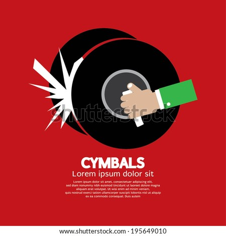 Cymbals Music Instrument Vector Illustration - stock vector