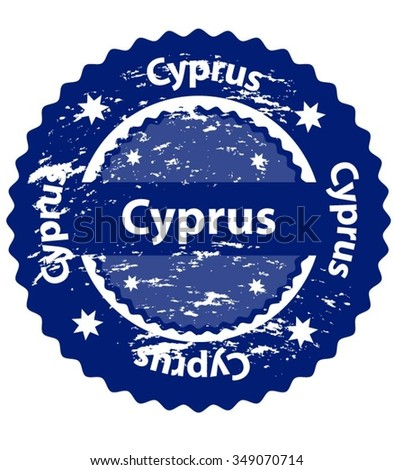Cyprus Country Grunge Stamp - stock vector