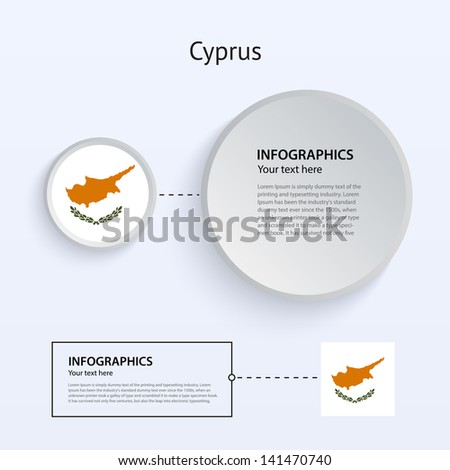 Cyprus Country Set of Banners on gray background for Infographic and Presentation. Vector illustration. - stock vector