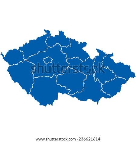 czech republic - stock vector