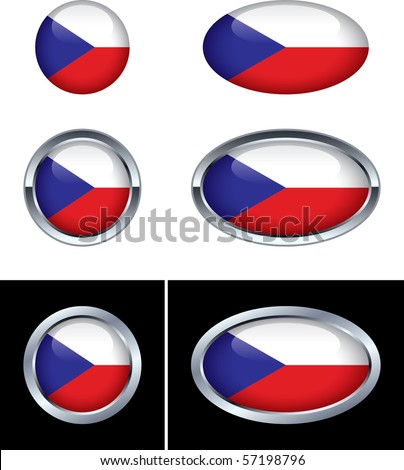 Czech Republic Flag Buttons