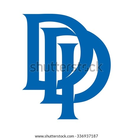 d and p logo vector