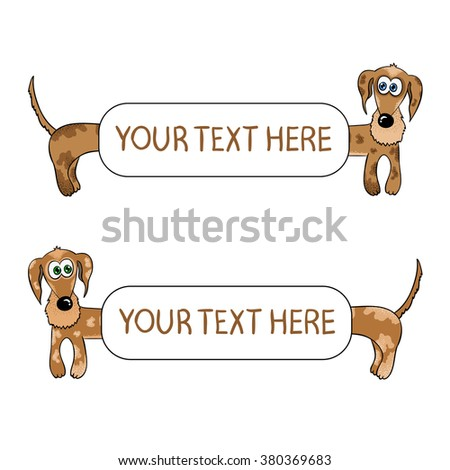 Dachshund Background Set Funny Dogs Frames Stock Vector 380369683 ...