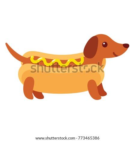 Hot Dog Dog Drawing