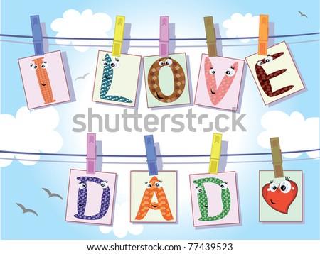 Dad day,vector - stock vector