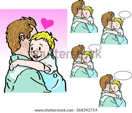 dad hug child