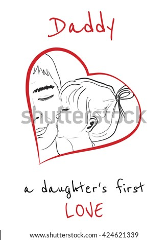 father and daughter relationship pictures to draw