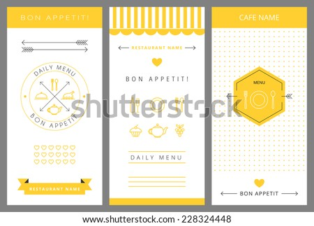 Daily menu design template. Vector isolated illustration. - stock vector