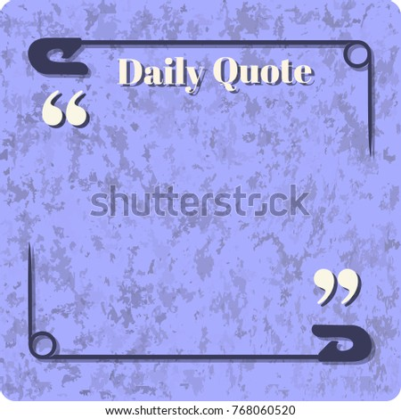 Daily Quote Frame Template Design Be Stock Vector 768060520 ...