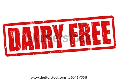 Dairy free grunge rubber stamp on white, vector illustration - stock vector