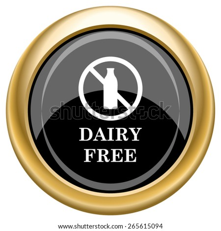 Dairy free icon. Internet button on white  background. EPS10 Vector.  - stock vector